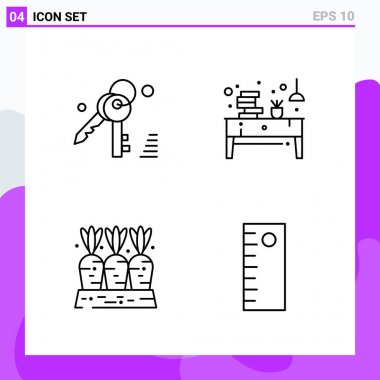 creative icons set design on white background