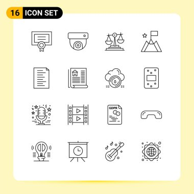 Universal Icon Symbols Group of 16 Modern Outlines of website, code, business, trophy, mission Editable Vector Design Elements icon