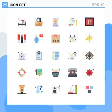 Stock Vector Icon Pack of 25 Line Signs and Symbols for control, backlog, configuration, quality control, rule Editable Vector Design Elements icon