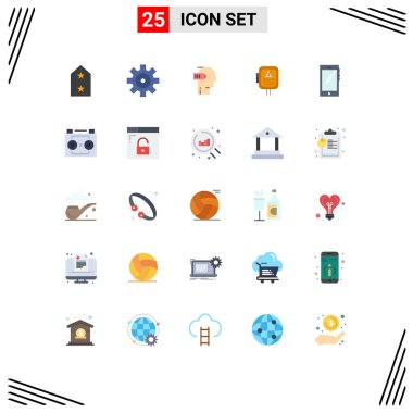 Stock Vector Icon Pack of 25 Line Signs and Symbols for smart phone, transformer, exhaustion, power, voltage Editable Vector Design Elements icon