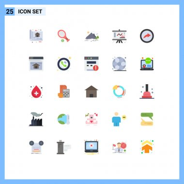 Stock Vector Icon Pack of 25 Line Signs and Symbols for management, chart, sport, business, mountain Editable Vector Design Elements icon