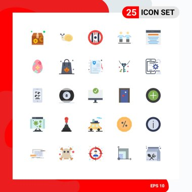 Stock Vector Icon Pack of 25 Line Signs and Symbols for digital marketing, advertising, game, group, friends Editable Vector Design Elements icon