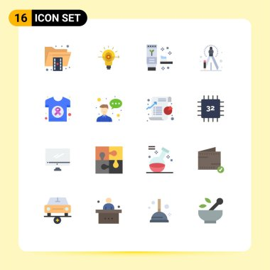 Stock Vector Icon Pack of 16 Line Signs and Symbols for cancer, process, business, creative, produce Editable Pack of Creative Vector Design Elements icon