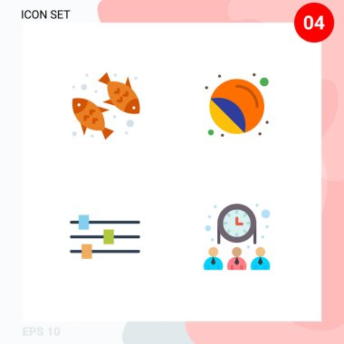 Set of 4 Commercial Flat Icons pack for diet, design, nutrition, printer, tool Editable Vector Design Elements icon