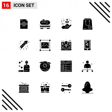 Stock Vector Icon Pack of 16 Line Signs and Symbols for yes, e, protection, commerce, grow Editable Vector Design Elements icon