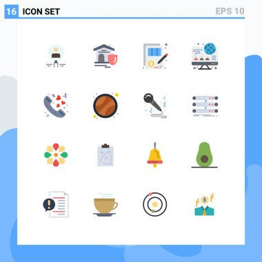 16 Creative Icons Modern Signs and Symbols of computer, justice, shield, document, accuracy Editable Pack of Creative Vector Design Elements icon