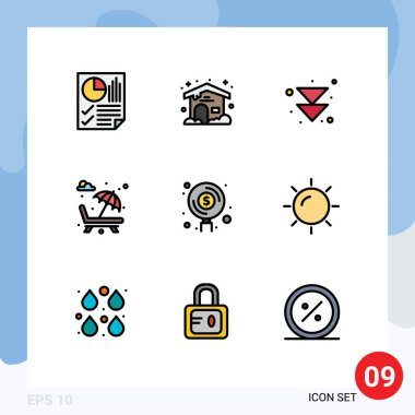 Stock Vector Icon Pack of 9 Line Signs and Symbols for find, valentine's day, arrow, romance, fountain Editable Vector Design Elements icon