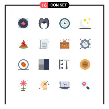 16 Creative Icons Modern Signs and Symbols of pizza, moon, male, crescent, speedometer Editable Pack of Creative Vector Design Elements icon