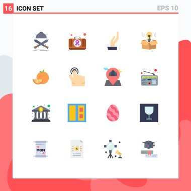 16 Creative Icons Modern Signs and Symbols of food, light, medical, idea, box Editable Pack of Creative Vector Design Elements icon