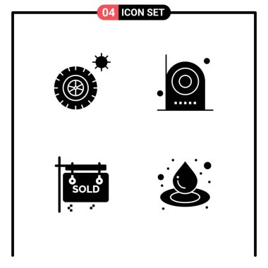 Stock Vector Icon Pack of Line Signs and Symbols for summer, sign, camera, electronic, real estate Editable Vector Design Elements icon