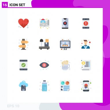 Stock Vector Icon Pack of 16 Line Signs and Symbols for board, error, date, devices, alert Editable Pack of Creative Vector Design Elements icon