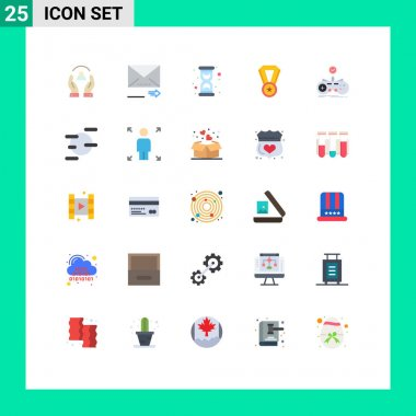 Stock Vector Icon Pack of 25 Line Signs and Symbols for controller, medal, next, education, time Editable Vector Design Elements icon