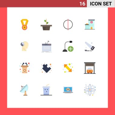 16 Creative Icons Modern Signs and Symbols of mind, brian, digital, svg, clinic Editable Pack of Creative Vector Design Elements icon