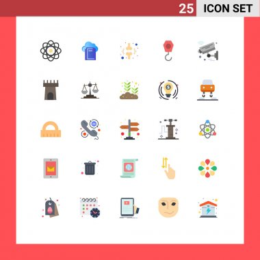 Stock Vector Icon Pack of 25 Line Signs and Symbols for iot, camera, brake, hook, construction Editable Vector Design Elements icon