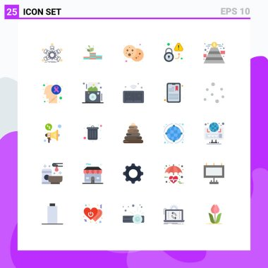 Stock Vector Icon Pack of 25 Line Signs and Symbols for virus, unlock, success, secured, party Editable Vector Design Elements icon