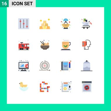 Stock Vector Icon Pack of 16 Line Signs and Symbols for food, fireman, marketing, firefighter, emergency Editable Pack of Creative Vector Design Elements icon