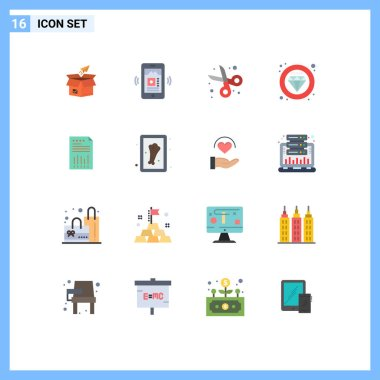 16 Creative Icons Modern Signs and Symbols of quality, label, app, student, education Editable Pack of Creative Vector Design Elements icon