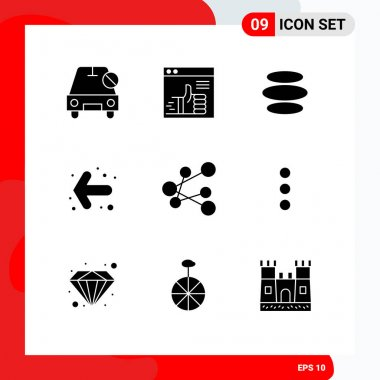 Stock Vector Icon Pack of 9 Line Signs and Symbols for export, back, support, arrow, crypto Editable Vector Design Elements icon