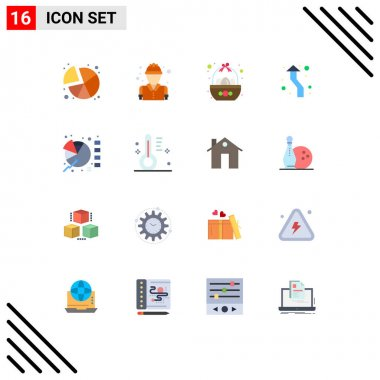 16 Creative Icons Modern Signs and Symbols of round, up, basket, arrows, egg Editable Pack of Creative Vector Design Elements icon