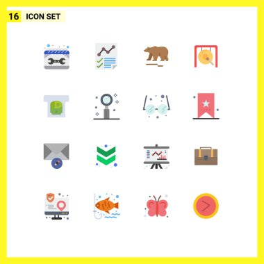 Universal Icon Symbols Group of 16 Modern Flat Colors of chinese, music, page, gong, polar Editable Pack of Creative Vector Design Elements icon