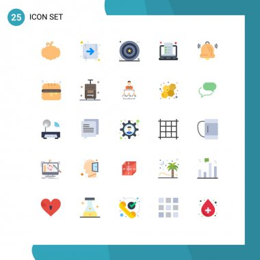 Stock Vector Icon Pack of 25 Line Signs and Symbols for communication, notes, day, note, laptop Editable Vector Design Elements icon