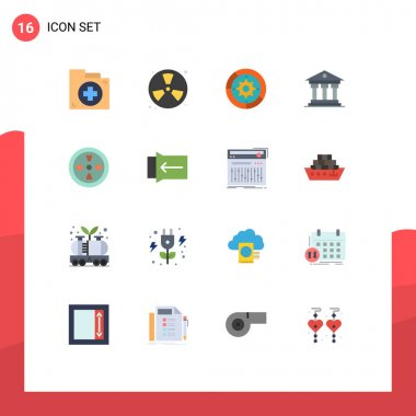 16 Creative Icons Modern Signs and Symbols of money, bank, fireman, process, setup Editable Pack of Creative Vector Design Elements icon