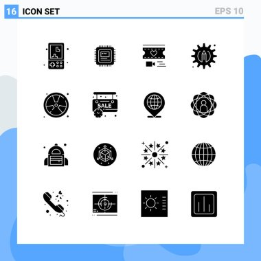 Stock Vector Icon Pack of 16 Line Signs and Symbols for fighter, pencil, hardware, process, wedding Editable Vector Design Elements icon