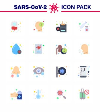 Simple Set of Covid-19 Protection Blue 25 icon pack icon included drop, vaccine, forbidden, syringe, drugs viral coronavirus 2019-nov disease Vector Design Elements icon