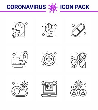 Simple Set of Covid-19 Protection Blue 25 icon pack icon included  soap, cleaning, hand, pills, medical viral coronavirus 2019-nov disease Vector Design Elements icon