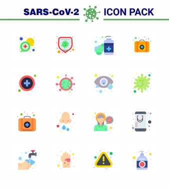 Coronavirus Precaution Tips icon for healthcare guidelines presentation 16 Flat Color icon pack such as medical, medicine, virus, medical case, hands care viral coronavirus 2019-nov disease Vector Design Elements icon
