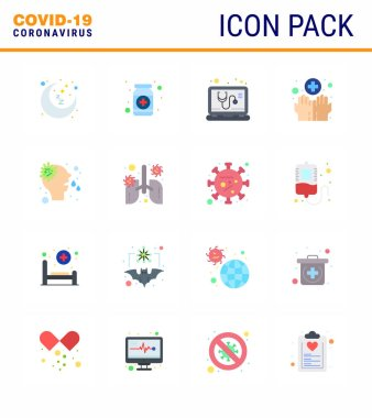 Simple Set of Covid-19 Protection Blue 25 icon pack icon included washing, hygiene, medicine, hands, online viral coronavirus 2019-nov disease Vector Design Elements icon