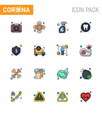 COVID19 corona virus contamination prevention. Blue icon 25 pack such as protection, tooth, solid, medical, dental viral coronavirus 2019-nov disease Vector Design Elements icon