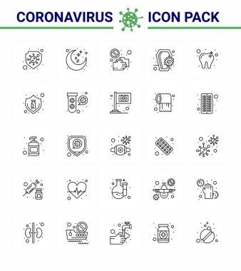 25 line Coronavirus Covid19 Icon pack such as infection, coronavirus, covid, coffin, shake hand viral coronavirus 2019-nov disease Vector Design Elements icon