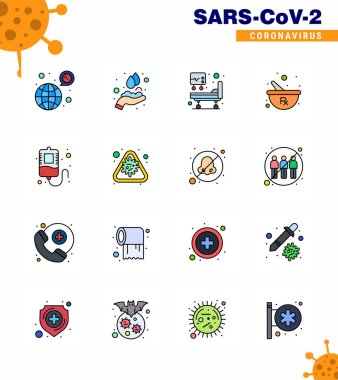 Simple Set of Covid-19 Protection Blue 25 icon pack icon included transfusion, preparing, washing, mixing, bowl viral coronavirus 2019-nov disease Vector Design Elements icon