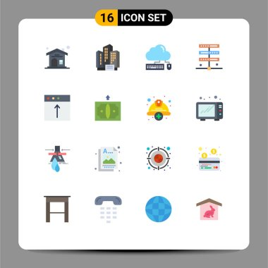 16 Creative Icons Modern Signs and Symbols of import, server, keyboard, internet, data Editable Pack of Creative Vector Design Elements icon