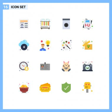 16 Creative Icons Modern Signs and Symbols of data, protect, household, secure, message Editable Pack of Creative Vector Design Elements icon