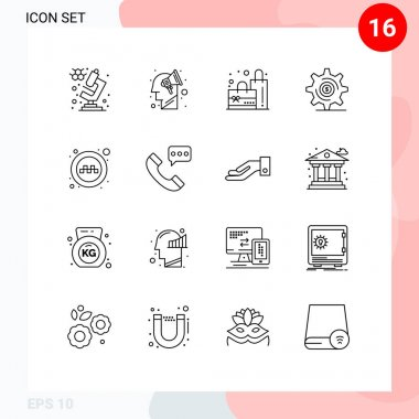 Stock Vector Icon Pack of 16 Line Signs and Symbols for taxi, service, plain, public, money Editable Vector Design Elements icon