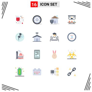 16 Creative Icons Modern Signs and Symbols of people, market share, web, business, casualty Editable Pack of Creative Vector Design Elements icon