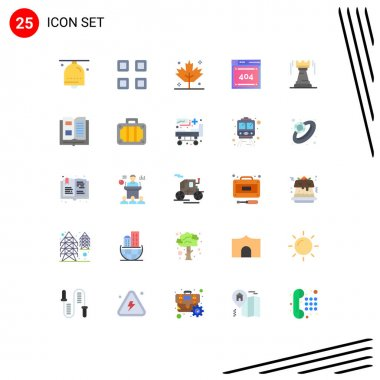 Stock Vector Icon Pack of 25 Line Signs and Symbols for tower, codiing, view, code, file Editable Vector Design Elements icon