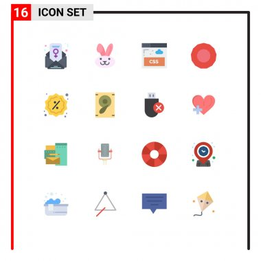 Stock Vector Icon Pack of 16 Line Signs and Symbols for speaker, music, style, shopping, reduction Editable Pack of Creative Vector Design Elements icon