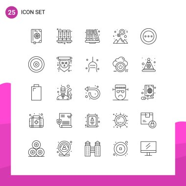 Stock Vector Icon Pack of 25 Line Signs and Symbols for layout, success, back to school, outstanding, achievement Editable Vector Design Elements icon