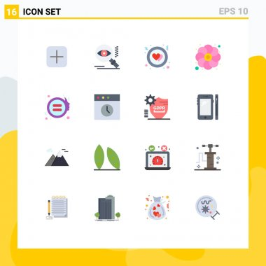 16 Creative Icons Modern Signs and Symbols of gender, equality, circle, sunflower, gras Editable Pack of Creative Vector Design Elements icon