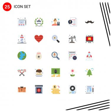 Stock Vector Icon Pack of 25 Line Signs and Symbols for file, document, female, contact, data scientist Editable Vector Design Elements icon