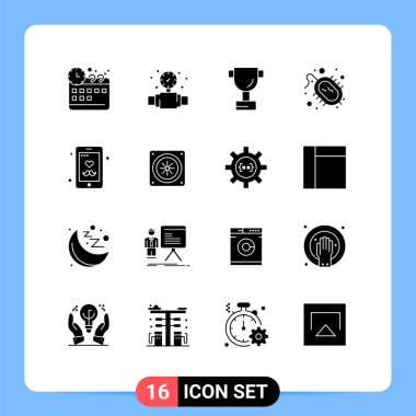 Stock Vector Icon Pack of 16 Line Signs and Symbols for computer, fathers day, sport, father, research Editable Vector Design Elements icon