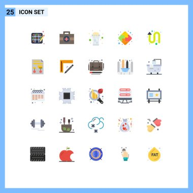 Stock Vector Icon Pack of 25 Line Signs and Symbols for left up, arrows, celebrate, arrow, strategy Editable Vector Design Elements icon