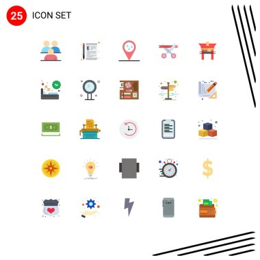 Stock Vector Icon Pack of 25 Line Signs and Symbols for opening, ceremony, learning, business, raining Editable Vector Design Elements icon