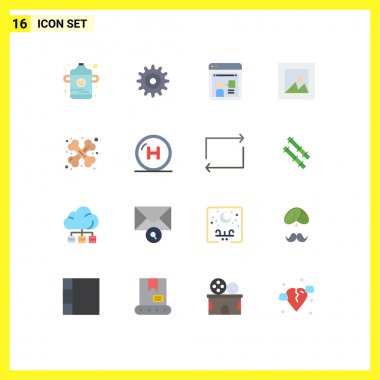 16 Creative Icons Modern Signs and Symbols of care, medical, discussion, health, photo Editable Pack of Creative Vector Design Elements icon