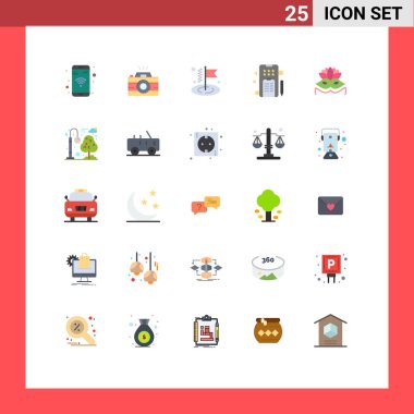 Stock Vector Icon Pack of 25 Line Signs and Symbols for eye mask, carnival mask, business, phone, pencle Editable Vector Design Elements icon