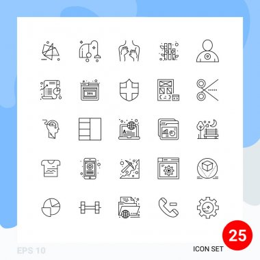 Stock Vector Icon Pack of 25 Line Signs and Symbols for favorite, nature, vacuum, bamboo, spa Editable Vector Design Elements icon