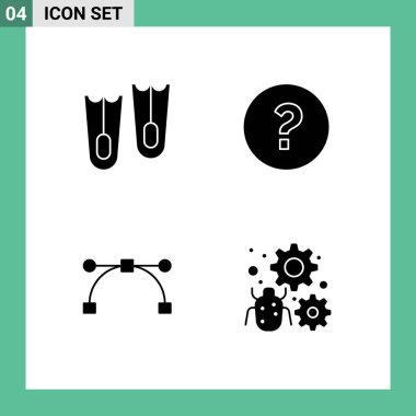 Stock Vector Icon Pack of Line Signs and Symbols for diving, configure, circle, anchor, bug Editable Vector Design Elements icon
